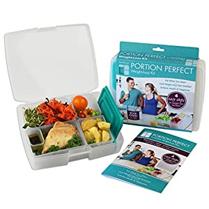 Bentology – Bento Lunch Box with Weight Loss Plan Booklet – Portion Control Container Kit – Clear and Turquoise 51JboIkN3OL  [20 Pack] 32 Oz. Meal Prep Containers BPA Free Plastic Reusable Food Storage Container Microwave & Dishwasher Safe Portion Control Containers & Bento Box Lunch Box 51JboIkN3OL