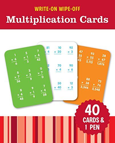 WriteOn WipeOff Multiplication Cards WriteOn WipeOff Learning Cards