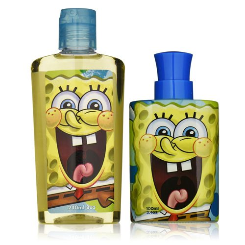 - Nickelodeon Spongebob Squarepants 2 Piece Gift Set for BOYS (Eau de Toilette Spray Plus Body Wash)