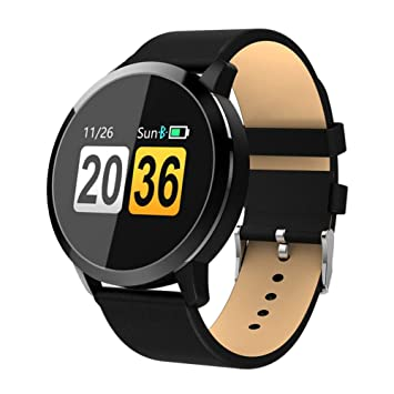 Amazon.com: MSQL Bluetooth Fitness Watch, Round Touch Screen ...