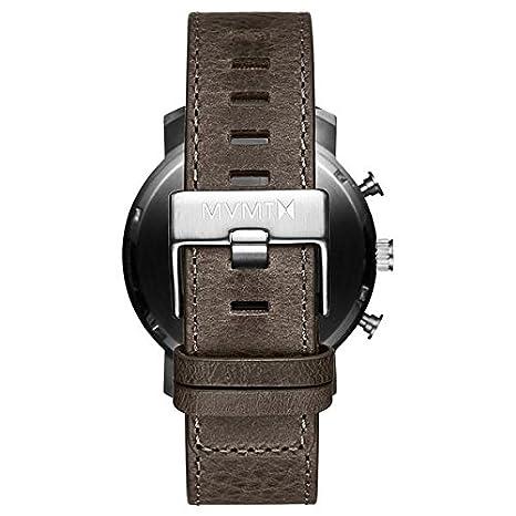MVMT Reloj Cronógrafo para Hombre de Cuarzo con Correa en Cuero D-MC01-SGR: Amazon.es: Relojes