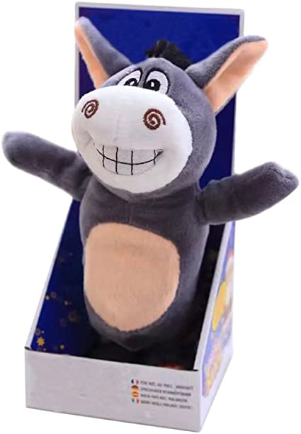 Electric Voice Recording Donkey Repeats What You Say Plush Animal Toy Kid Gift