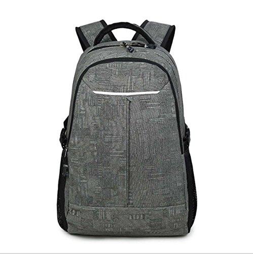 Dark Bookbag Para Gimnasio Casual Viajes Campus Portar Escuela Portátil Mochilas Cuero Mochila Mochila Canvas Senderismo Adolescentes Escuela Moda Bolso Gray Pack Superficie fPfqR