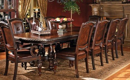 Charming Amazon.com   Steve Silver Company Antoinette Dining Table With 24 Home Design Ideas