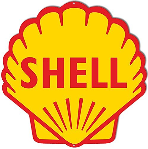 Shell Laser Cut Out Reproduction Sign 17x17 (Shell Gas Sign compare prices)