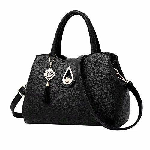 Zerototens Tote Bags For Women Classic Designer Leather Large Capacity Classic Ladies Tote Handbags Bowknot Handbag Cross Body Shoulder Bags For Work Travel Satchels For Girls Black