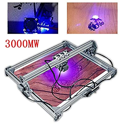 RanBB Engraving Machine, DC 12V Mini Laser Engraving Machine 65X50CM Image Carving Engraver DIY Kit Desktop Laser Printer with Goggles
