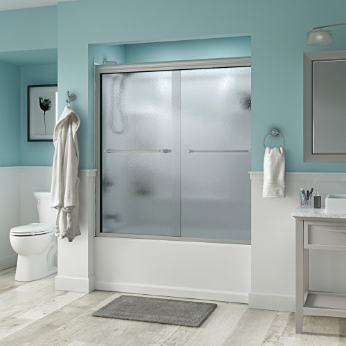 Sale!! Delta Shower Doors SD3276622 Windemere 60 Semi-Frameless Traditional Sliding Bathtub Door in...