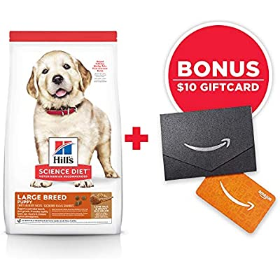 Hill's Science Diet Dry Dog Food, Puppy, Large Breeds, Lamb Meal & Brown Rice Recipe, 33 lb Bag w/Amazon Gift Card
