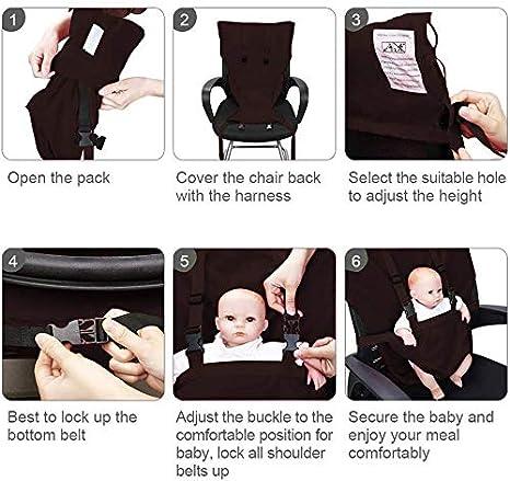 tragbar verstellbar ZYEZI Hochstuhl-Geschirr F/ütterung Sicherheit f/ür Kleinkinder Sitzgurt Gurt