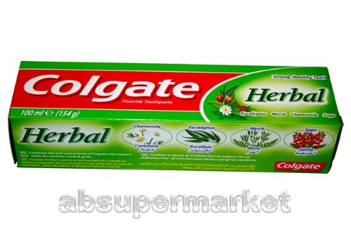 Price comparison product image Colgate Fluoride Toothpaste- Herbal 154g (Pack of 4)