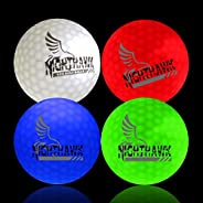 4 Nighthawk Light Activated LED Light Up Golf Balls Glow in The Dark Official Size Weight Constant On