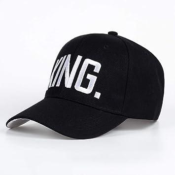 Yooci Gorras De Hombre King Queen Sombrero Bordado Negro Snapback ...