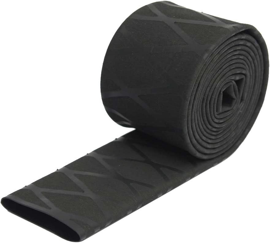 ?30mm Black ?20mm ?25mm ?30mm NonSlip Heat Shrink Tubing Textured Grip Fish Rod Racket Handle 50mm Flat