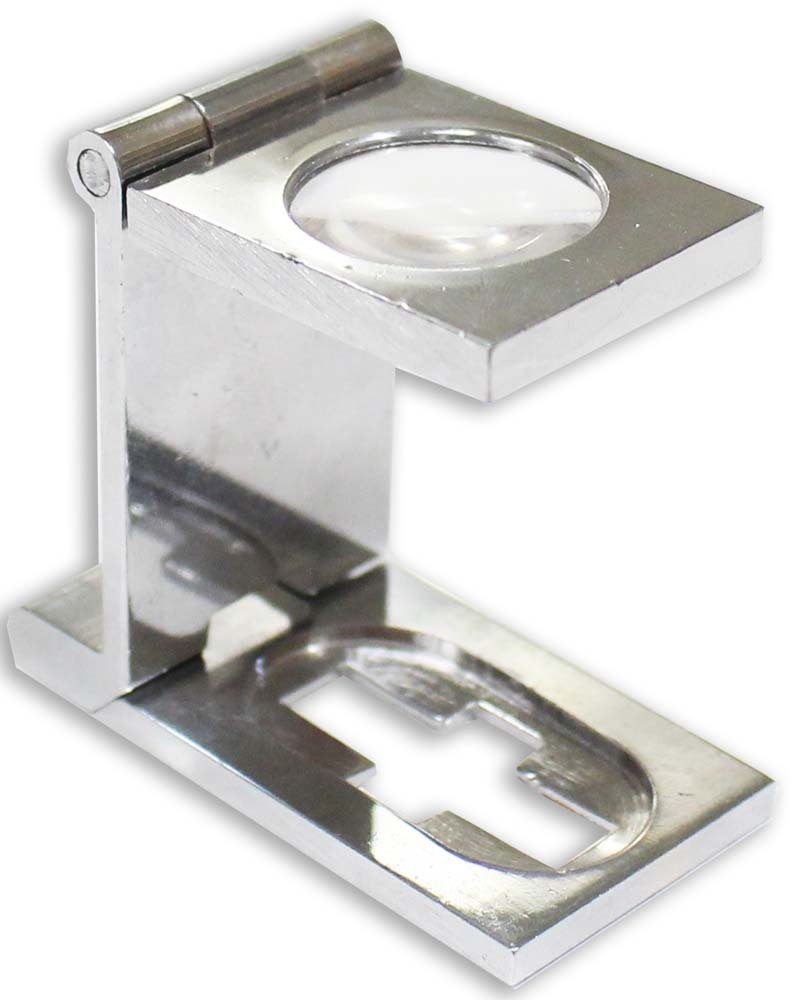 10x Folding Magnifier with Chrome Finish ToolUSA