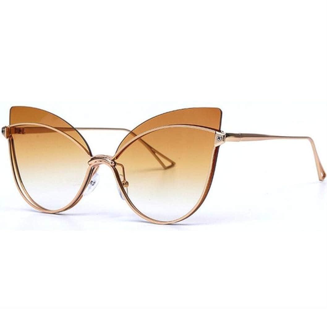shengbuzailai Gafas de sol de gran tamaño Cateye mujeres ...