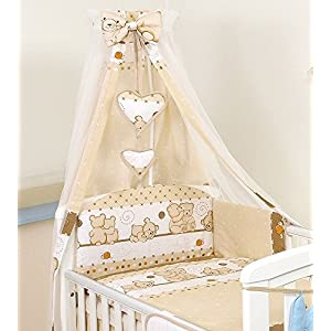 10 PCS PRO COSMO Bedding Set Baby COT Bed/COT Quilt Bumper Canopy +Holder (to fit cot Bed Size 120x60cm, 9)