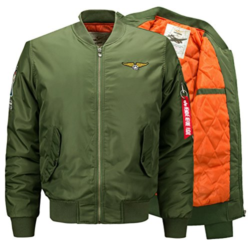 Winter Thick Bomber Parka Coats Military Jacket Chaqueta Cazadoras Hombre at Amazon Mens Clothing store: