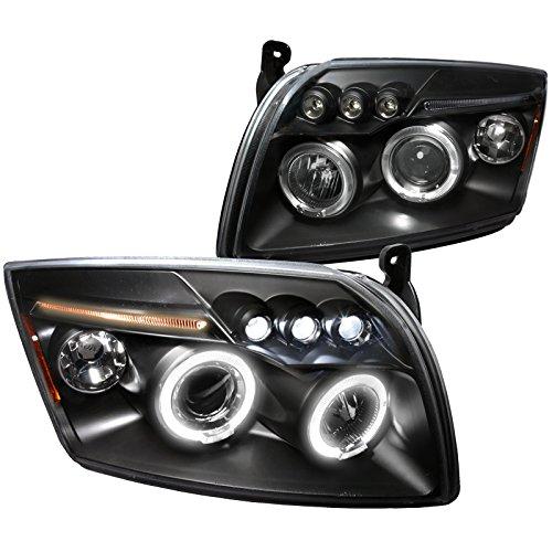 Spec-D Tuning 2LHP-CAL06JM-TM Dodge Caliber Black Led Halo Projector Head Lights
