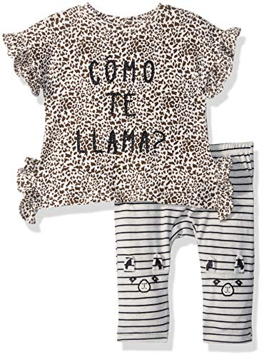 Jessica Simpson Baby Girls Animal Print Fashion Top and Legging Set, Morgante Cheetah 3-6 ()