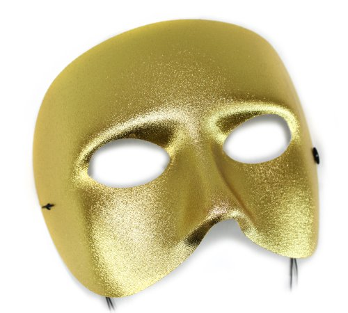 Success Creations Casanova Men's Masquerade Mask Gold