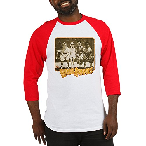 CafePress The Little Rascals Character Shot Baseball Jersey Cotton Baseball Jersey, 3/4 Raglan Sleeve Shirt Red/White ()