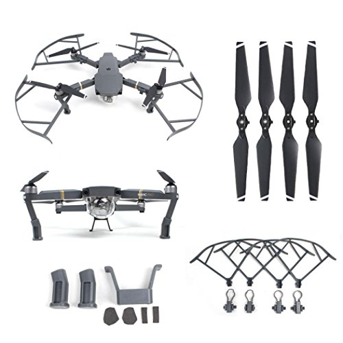 Creazy Heightened Landing Gear+Protector Guard+Props Propellers Blade For DJI Mavic Pro
