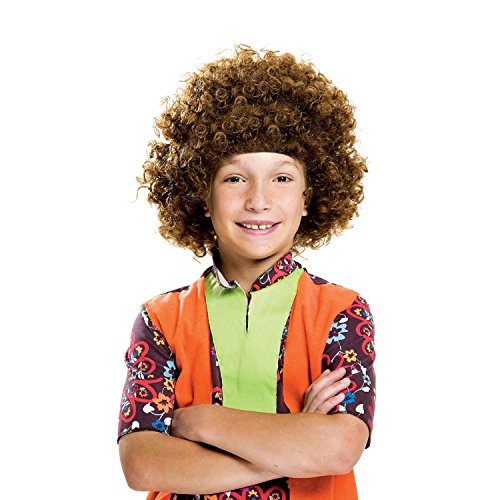 Party Hair Brown Children's Afro Wig Costume 70's Disco -