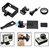 Frame Mount +UV Protective Glass+Battery Door+Side Cover for GoPro Hero 3 3+