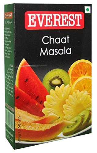 Everest Chaat Masala Used to Sprinkle on Salads, Sandwiches, Fresh Fruits, Finger Chips, Snacks and More (100 Gms) by Everest