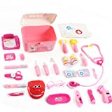 Girls Doctor Kit Set Children's Day Gift, Pretend Play Doctor Playset with Nurse Coat for Kids 3-5...