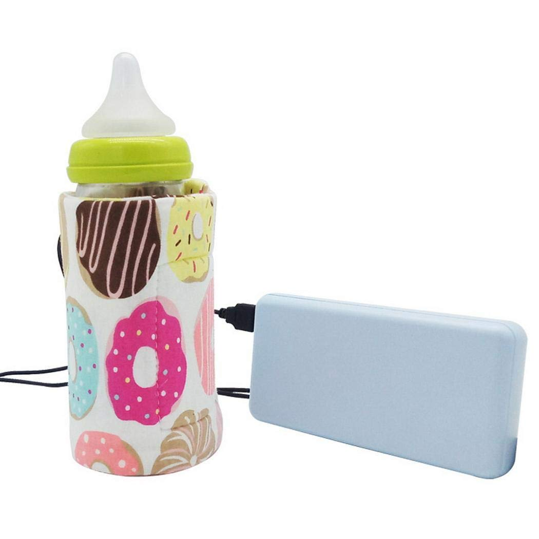 OD'lover Portable Outdoor Thermostatic USB Feeding Bottle Insulation Sleeve Bottle Cover Warmers & Sterilizers