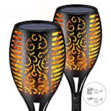 Solar Torch Lights,Waterproof Flickering Flame Torch Lights Outdoor Solar Spotlights Landscape Decoration Lighting Dusk to Dawn Security Path Light for Garden Patio Deck Yard Driveway (2 Pack)