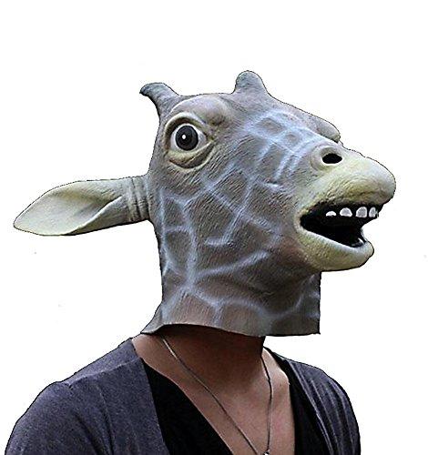 HLLWN Expresss, Giraffe Head, Halloween Masquerade Latex Mask 2014 HLWMSK59
