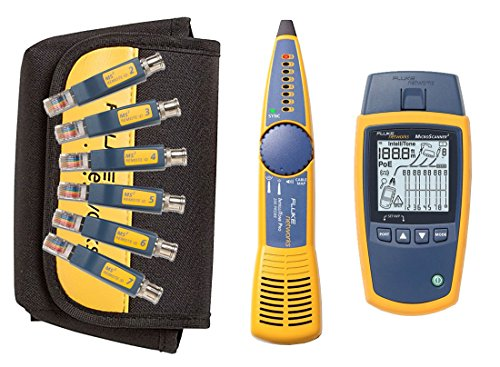 Fluke Networks MS2-KIT Network Cable Tester Kit with - Network Lan Cable Tester