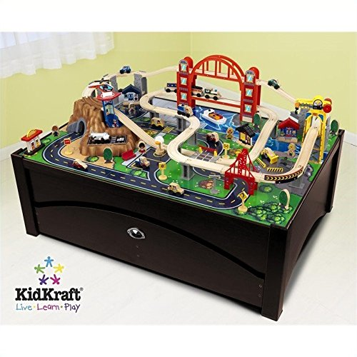KidKraft Metropolis Train Table and Set