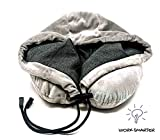 Work Smarter Memory Foam Neck Travel Pillow with Hoodie. Ultra-Soft Washable Cover. Adjustable Hoodie. Sleep Support (Gray)