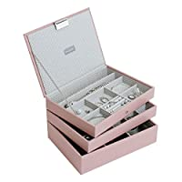 Stackers Soft Pink Classic Jewelry Box - Set of 3