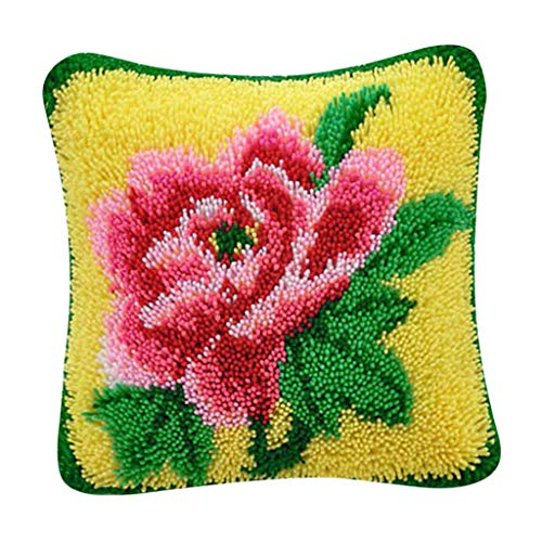 - CUTICATE Floral Design Cushion Mat Latch Hook Rug Kits DIY Sewing Crafts for Beginner Needlework Kits