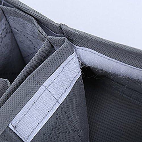 Nrpfell 1pc Organisateur de tiroir de Placard avec 30 Compartiments pour sous-Vetements Soutien-Gorge Chaussettes Boites de Rangement de Cravate Gris
