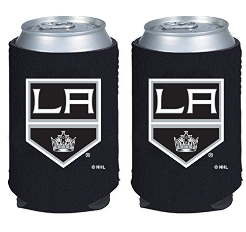 fan products of NHL Hockey 2014 Team Color Logo Can Kaddy Holder Koozie Cooler 2-Pack (Los Angeles Kings)