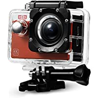 Original Elephone ELE Explorer S 4K Ultra HD 2 WiFi Action Camera 170° Wide Angle Waterproof Sport Camera include Full Accessories Kits-Brown