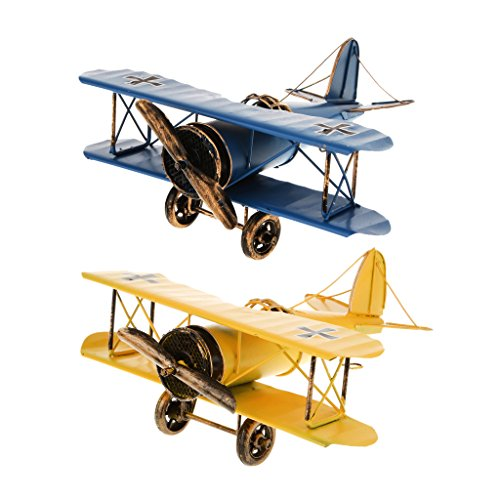 Perfk メタル レトロ 飛行機モデル 模型 子供 おもちゃ