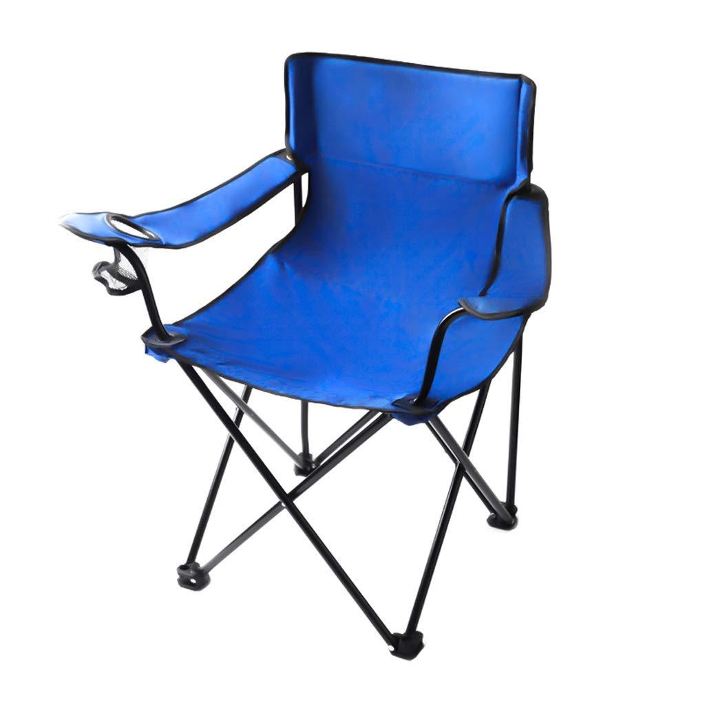 HYXI-Klappstuhl Klappstuhl, Sessel, Portable Outdoor Wanderer Strand Angeln Camping Sketch Stuhl/Blau / Maximale Belastung 100KG
