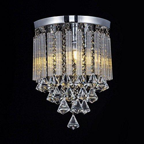 Luxury Crystal Ceiling Light Chandelier, AOKARLIA Corridor Lights Aisle Lamp, LED Hallway Pendant Lamp [Energy Class A+], 20CM by AOKOALA