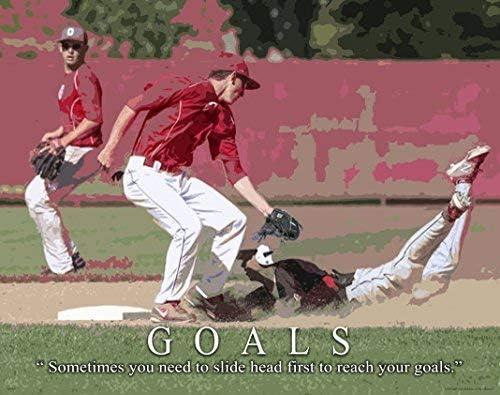 Baseball Motivational Poster Art Print 11x14 Shoes Gloves Little League  MVP418