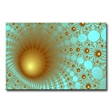 Teal Wall Art Painting Funnel Prints On Canvas The Picture Abstract Pictures Oil For Home Modern Decoration Print Decor For Furniture