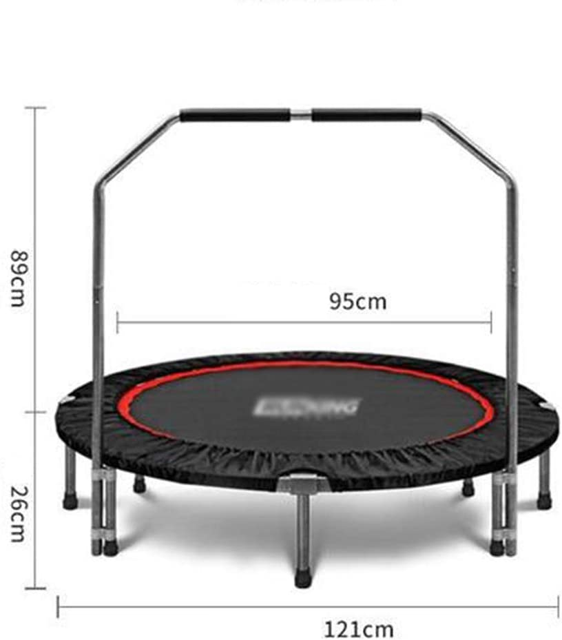 Large Load-Bearing Indoor Trampoline 8-Foot Support Fitness Trampoline Four-Fold Contraction 350Kg//325Kg CKR Foldable Mini Trampoline