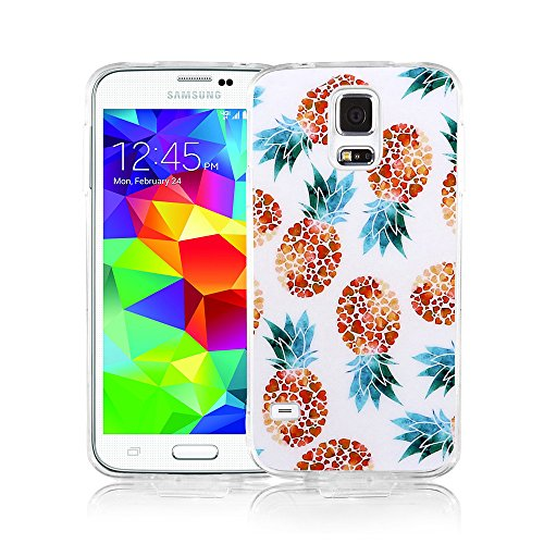 Samsung S5 Case, Galaxy S5 Case, Viwell Design Pattern Case, High Impact Protective Case for Samsung Galaxy S5 Case Heart Shape with Pineapple ()