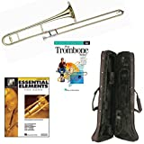Play Trombone Today Deluxe Pack - Includes Bb Tenor Trombone, Self-Teaching Method DVD & Essential Elements for Band Book 1